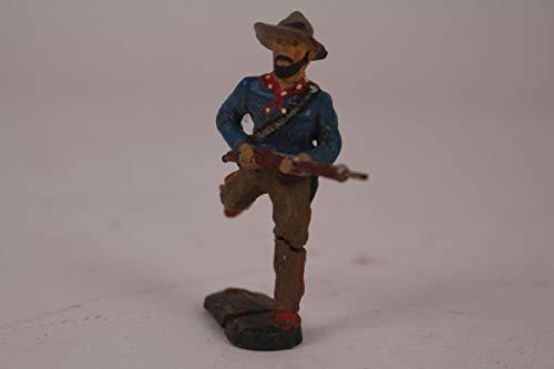 vintage13.de Elastolin Lineol Figur Masse Soldat rennend amerik. Bürgerkrieg antik Spielzeug