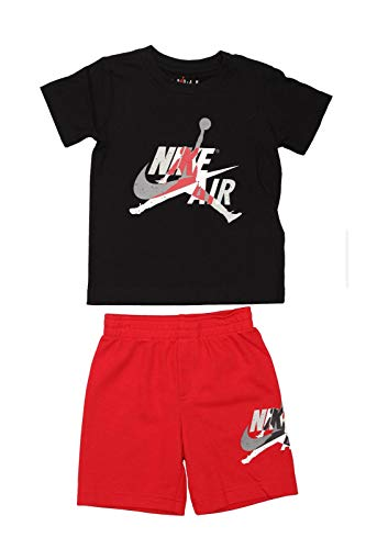 Nike Air Jordan Set 2 PC Completino Bambino Nero 856941-R78 (2-3Y)
