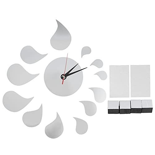 HAOX Etiqueta engomada de Pared del Reloj, Etiqueta engomada muda Multifuncional de Pared del Reloj para Las Etiquetas engomadas caseras del Fondo