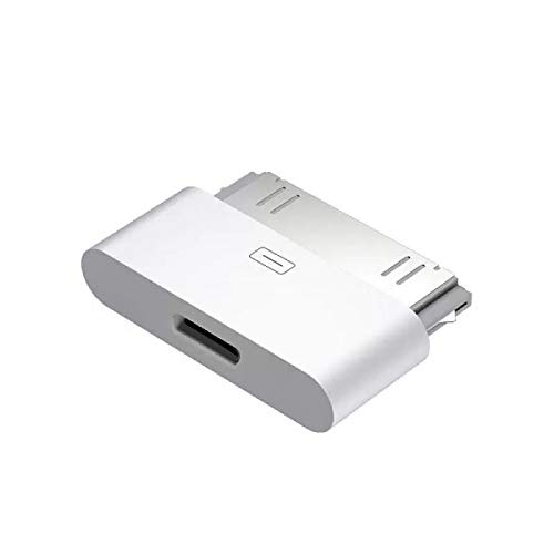 30-Pin to Lightning Adapter, ROSYCLO MFi Certified 8-Pin Female to 30 Pin Male Dock Connector iPhone Charging Sync Converter Compatible iPhone 4/4s/iPad/iPod Touch White (No Audio)