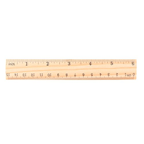Regla de madera de doble cara para estudiantes, escuelas, oficinas, etc. 15 cm, 20 cm, 30 cm, color 15cm