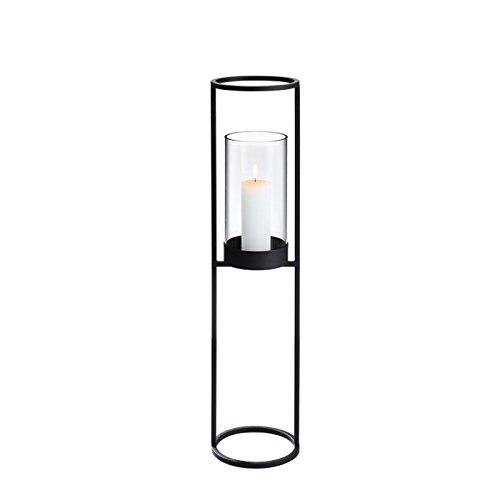 Blomus Nero Standleuchter, Metall, schwarz, H 90 cm, Ø 21 cm