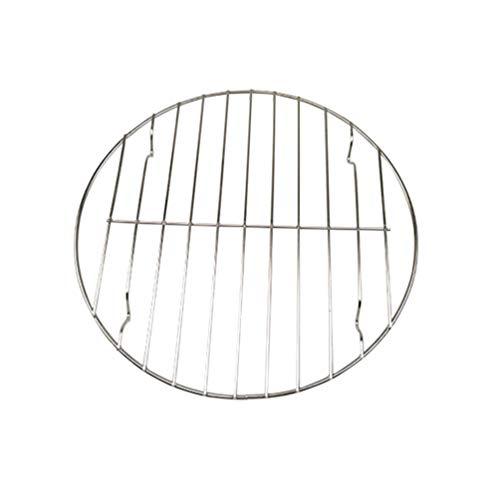 UPKOCH fleischnetz grillrost mini tragbarer runder backrost net grillrost für fleisch fisch gemüse silber