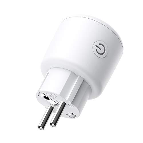 BESTEK Enchufe Inteligente WiFi Control Remoto Compatible con Amazon Alexa, Google Home y IFTTT WiFi Control, Timer Control, Control de Voz, Wireless Socket para App Android y iOS