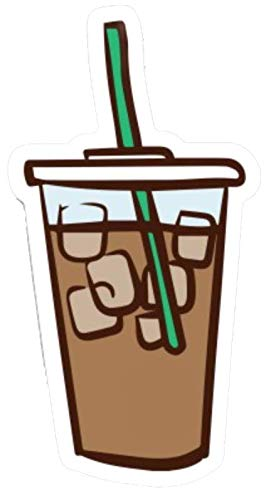 """Iced Coffee Drink Sticker - 4"""" Vinyl Decal Sticker from Blue Cannon Trading Company. Perfect for VSCO Girls, Water Bottles, laptops, notebooks, etc."""