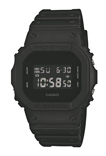 CASIO Herren Digital Quarz Uhr mit Resin Armband DW-5600BB-1ER