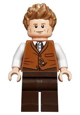 LEGO Fantastic Beasts Newt Scamander, Dark Orange Vest Minifigure from 75952 (Bagged)