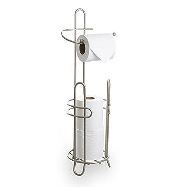 BINO 'The Millenium' Free Standing Toilet Paper Holder, Nickel