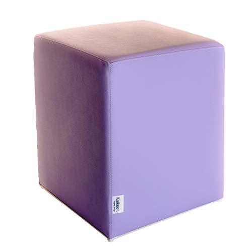 Kaikoon Pouf Cube Lilas Dimensions : 35 cm X 35 cm x 42 cm