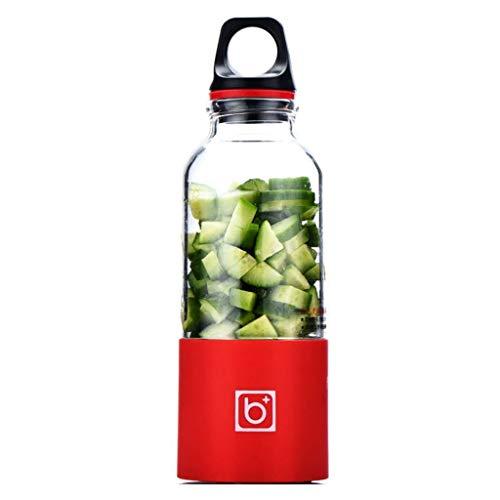 Creative Light- Mini tasse de jus rechargeable portative, presse-fruits de cuisson automatique, mini-presse-agrumes rechargeable d'USB, mélangeur parfait pour l'usage personnel (Couleur : Red)