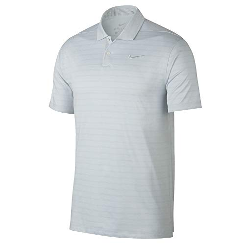 Nike Dry Fit Vapor Stripe Golf Polo 2019 Pure Platinum/White X-Large
