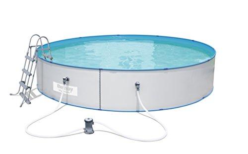 Bestway 4.60M X 90Cm Piscina Fuoriterra Hydrium Splasher, 4.6 M X 90 Cm, Bianco, 460X460X90 Cm