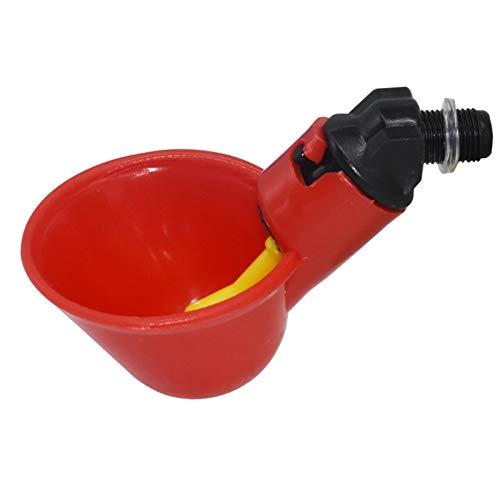 TFGUOqun 12 PCS Automatic Codillo Bottomer Botter Waterer Waterer con pezón Amarillo Farm Avicultura Sistema de Agua Potable para Suministros para Animales (Color : Red)