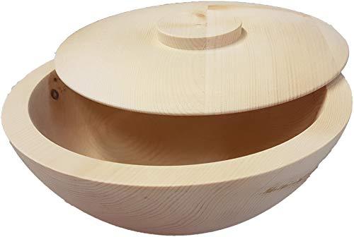 Pezzo D\'oro Zirbenholzbrotdose 24cm aus Österreich, handgedrechselt und naturbelassen