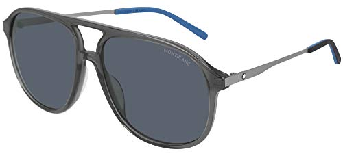 Gafas de Sol Mont Blanc MB0118S Grey/Grey 59/15/145 hombre