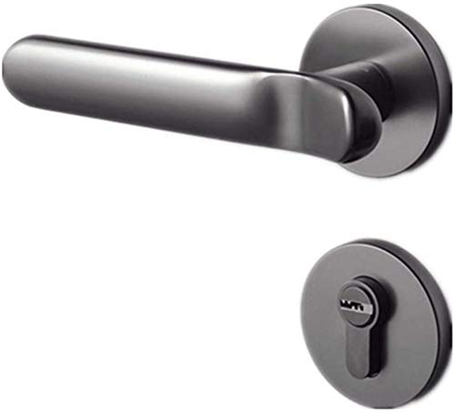 SHANCL Cerradura de la manija de la Puerta, Seguridad para el hogar con Llaves, Cerradura Interior de la Puerta de la lengüeta Cuadrada Maciza