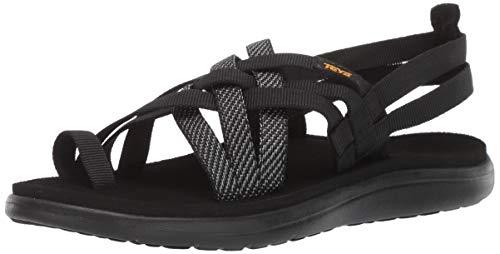 Teva Women's W VOYA Strappy Flip-Flop hera black 5 Medium US