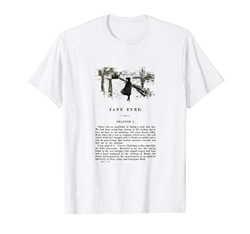 Jane Eyre Charlotte Bronte First Page with Illustration T-Shirt
