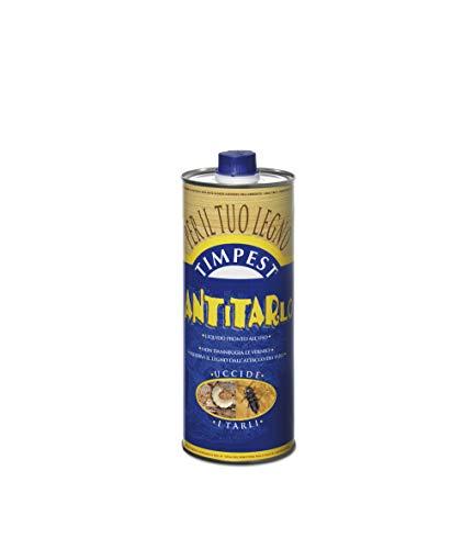 TIMPEST ANTITARLO LT. 1 - base solvente attivo contro tarli, larve, termiti e parassiti del legno - liquido pronto all'uso
