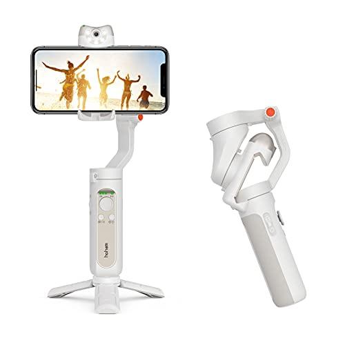 Image of Smartphone Gimbal,Hohem iSteady V2 3 Achsen Gimbal Smartphone Stabilizer,Hohem Gimbal mit Eingebauter AI Visual Sensor,Notstrombank,Handy Gimbal für iPhone 13/12/11/XR, Samsung, Huawei usw.