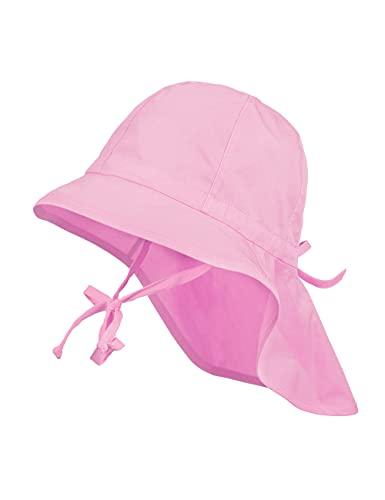 maximo Kinder Sonnenhut Nackenschutz Sommerhut Baumwollhut Hut (53 cm - rosa)