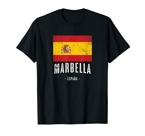 Marbella España   Souvenir Linda Ciudad - Bandera Española -