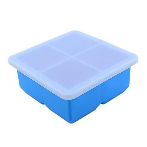 Moule carré à glaçons 4 grilles carré en gelée bleu
