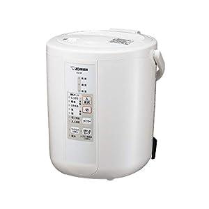 象印 加湿器 2.2L 木造6畳/プレハブ洋室10畳対応 スチーム式 蒸気式 フィルター不要 自動加湿3段階 入タイマー&切タイマー搭載 お手入れ簡単 ホワイト EE-RP35-WA