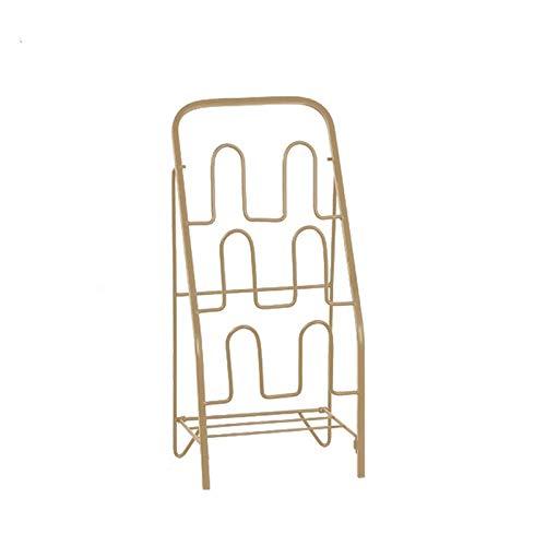 El almacenamiento en zapatero es simple y práctico Zapatero Entrada Baño Freestanding Zapato Rack Home Multifuncional Shoe Rack Zapato de metal de 3 pisos Adecuado para zapatos planos y zapatillas Zap