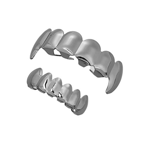 Generic Plated Gold Hip- hop Mouth Grills Punk Top Bottom Teeth Set...