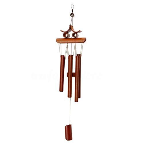 N-O Scacciapensieri a vento in bambù, decorazioni da giardino, ornamenti, decorazione per la casa, fortunato