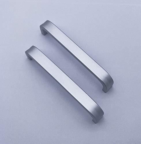 Qrity 2x Perillas de aleación de aluminio Armario de cocina Armario Armario Cajón Tiradores Tirador Tirador (128MM) + Tornillos