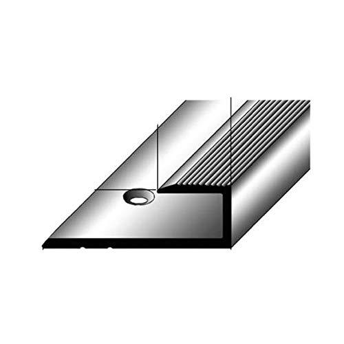 Einschubprofil für Laminat, 8,5 mm Einfasshöhe, Alu eloxiert, gebohrt, Farbe: Bronze Dunkel