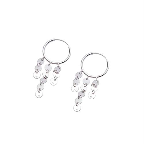 YOYOYAYA Ohrringe 925 Sterling Silber Mode Runde Ohren Klingeln Sweet Weiblichen Schmuck Zarte Simple Girl Cute Elegant Simple Geschenk Gedenk Dating Party