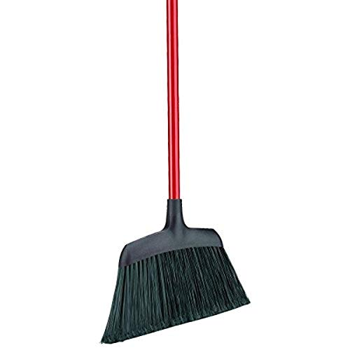 "Libman Commercial 994 Commercial Angle Broom, Steel Handle, 54"" Length, 13"" Width, Black/Red (Pack of 6)"