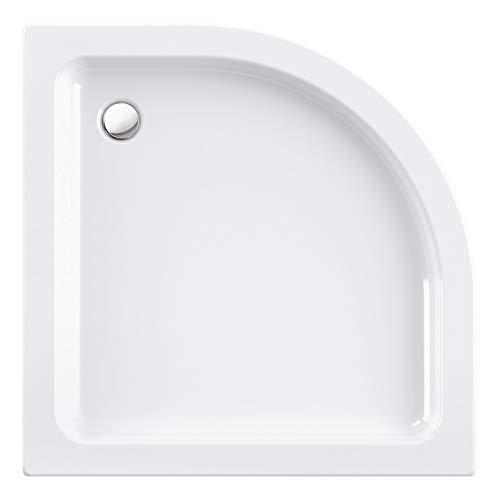 Calmwaters® - Original - Viertelkreis-Duschtasse aus Acryl in 90 x 90 cm im Komplettset mit Schürze & Wannenfuß - 01SL3355