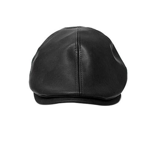 Gorra unisex de moda de Corea del estilo británico de piel sombrero de la boina del casquillo del pintor Visera Newsboy