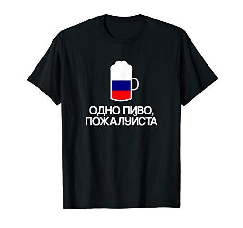(Ein) Bier bitte auf Russisch Russland Bier T-Shirt