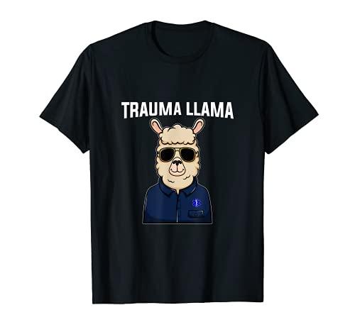 Trauma Llama 面白いファーストレスポンダー Tシャツ