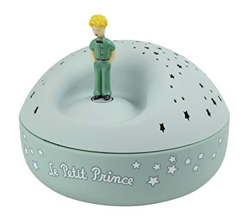 Trousselier - Der kleine Prinz Saint Exupery - Nachtlicht - ideales Geburtsgeschenk - Sternenprojektor mit Musik - Rotierende Figur - Batterien inklusive