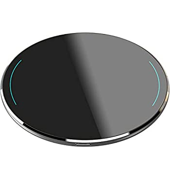 TOZO W1 Wireless Charger Thin Aviation Aluminum Computer Numerical Control Technology Fast Charging Pad Space Gray  NO AC Adapter