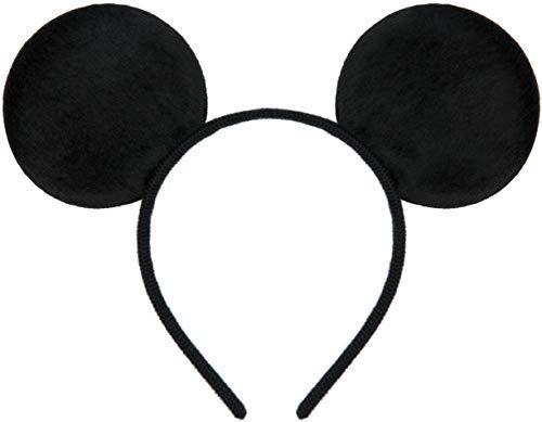 Balinco Haarreifen in schwarz mit Maus Ohren Micky Mouse für Kinder & Erwachsene
