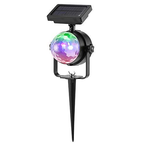 Luz Solar giratoria Colorida Solar, IPX4 Proyector LED a Prueba de Agua Luz giratoria Colorida, para jardín al Aire Libre, césped, hogar, Patio, decoración