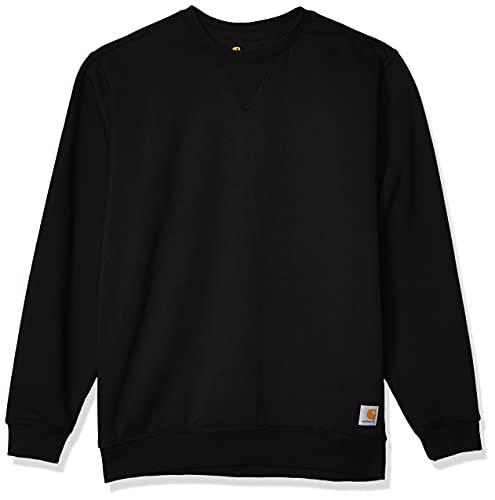 Carhartt Herren Midweight Crewneck Sweatshirt, Black, L