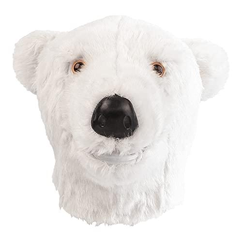 CreepyParty Máscara de oso polar de látex, de cabeza completa, para Halloween, carnaval, fiestas