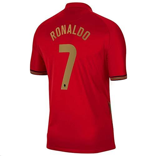 LISIMKEM 2020-2021 Men's Home Soccer Jersey/Short Colour Red (Portugal Ronaldo #7 (2XL))