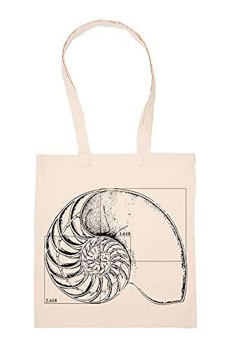 Gunmant Fibonacci Au UNE Coquille Sac à Provisions Beige Réutilisable Durable écologique Reusable Shopping Bag