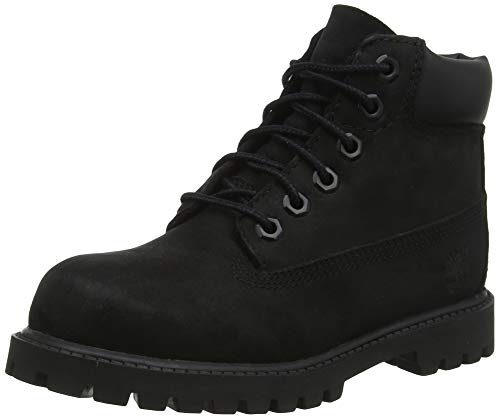 "Timberland Kids Boy's 6"" Premium Waterproof Boot Core (Toddler/Little Kid) Black Nubuck 12 Little Kid M"