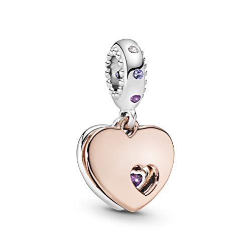 Pandora Moments Part of my heart Damen Charm Anhänger 925 Sterlingsilber 22 mm