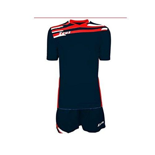 Zeus Kit ITACA Homme Football Football Gym Running Training Jogging Pegashop, Homme Femme bébé Fille Adulte Mixte, BLU-Rosso-Bianco, XXXL